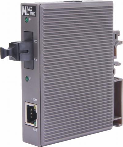 Оптический модуль ML-DIN-F920T WDM медиаконвертер MLaxLink 10/100Base-TX/100Base-FX, SC, sm, 1310/1550, 20  км, установка на дин-рейку