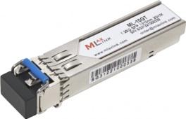 Модуль для интерфейса SFP. Модуль для двух волокон MLaxLink ML-10GT, скорость передачи 1Гб/c, дальность до 20км